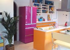 キッチンと全く別の色で混合して。